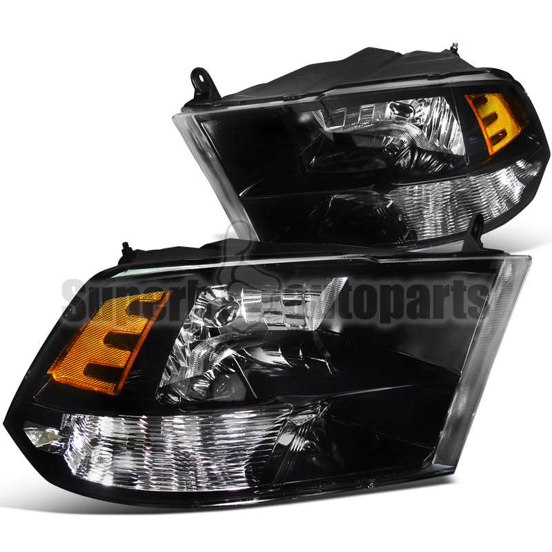 ram headlights dodge 2009 1500 3500 2500 housing custom depo crystal lights aftermarket tuning reflector amber fog tail amazon dp
