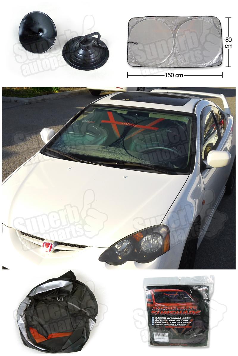 150 80cm spec d windshield auto car sun shade sunshine blocker ebay. Black Bedroom Furniture Sets. Home Design Ideas