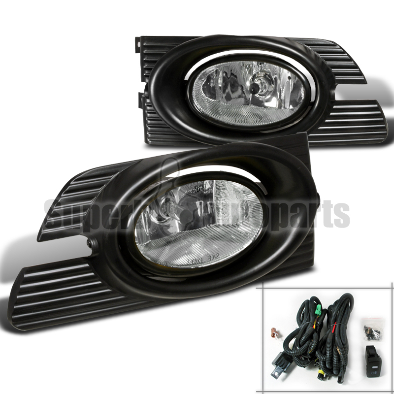 2001 2002 honda accord 4dr sedan bumper fog lights kit chrome clear. Black Bedroom Furniture Sets. Home Design Ideas