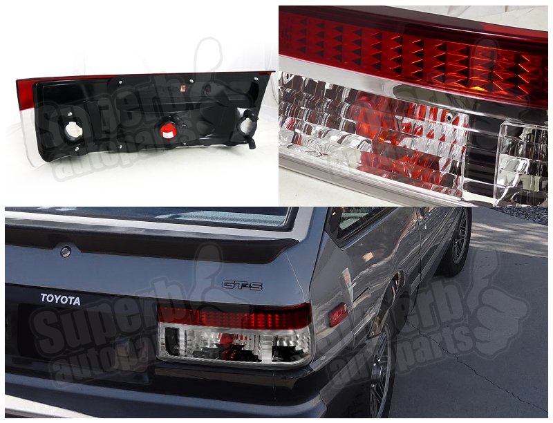 1983 1987 toyota corolla ae86 hatchback tail lights lamps. Black Bedroom Furniture Sets. Home Design Ideas