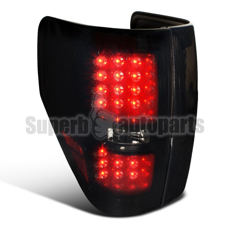 2009 2013 ford f150 pickup led brake lamps tail lights glossy black. Black Bedroom Furniture Sets. Home Design Ideas