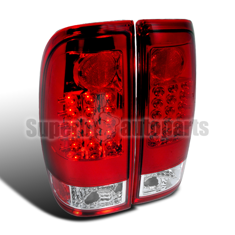 1997 2003 ford f150 f250 styleside led tail brake lights red lens. Black Bedroom Furniture Sets. Home Design Ideas