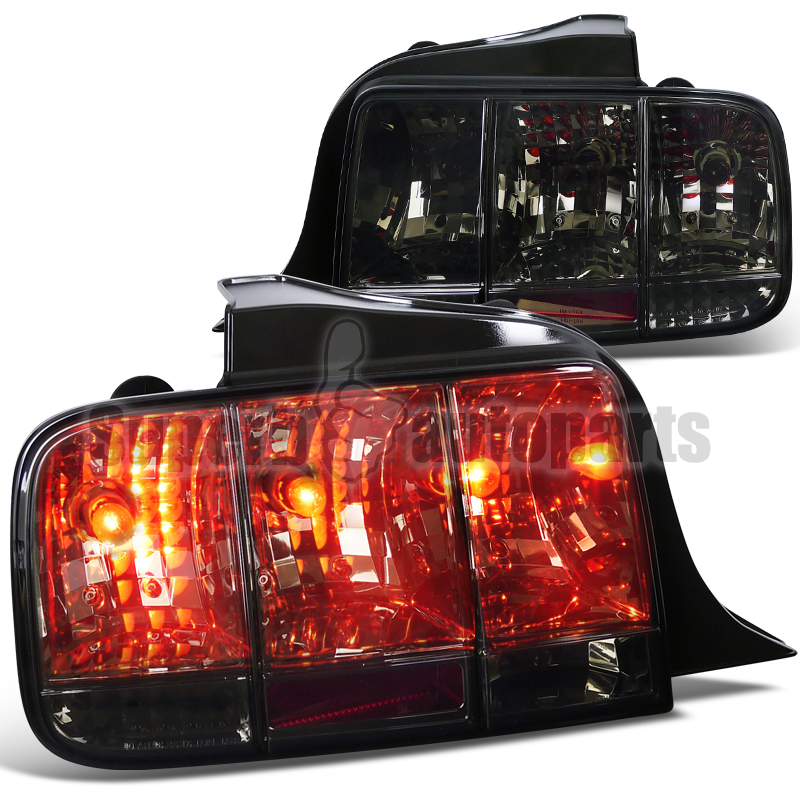 2005 2009 ford mustang tail lights sequential signal lamp smoke ebay. Black Bedroom Furniture Sets. Home Design Ideas