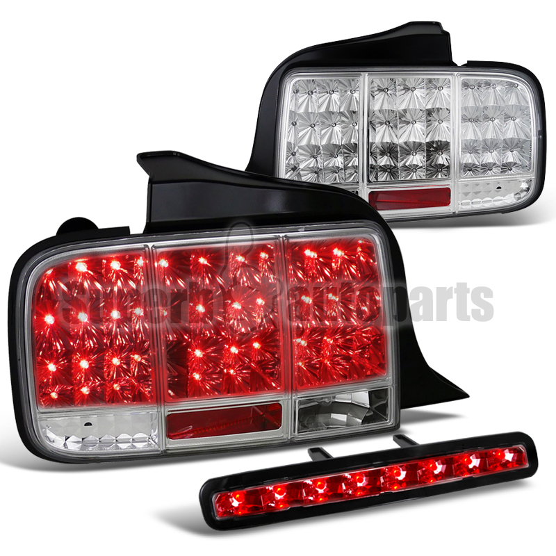 ford mustang led sequential signal tail lights third brake lamp clear. Black Bedroom Furniture Sets. Home Design Ideas