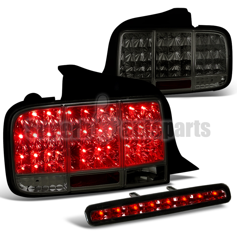 ford mustang led sequential signal tail lights third brake lamp smoke. Black Bedroom Furniture Sets. Home Design Ideas