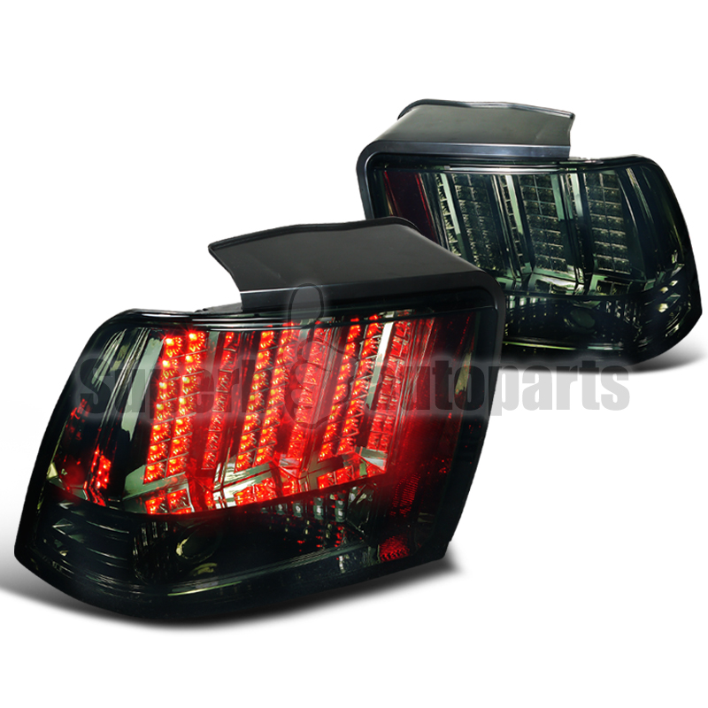 2004 ford mustang led tail lights sequential signal brake lamps smoke. Black Bedroom Furniture Sets. Home Design Ideas