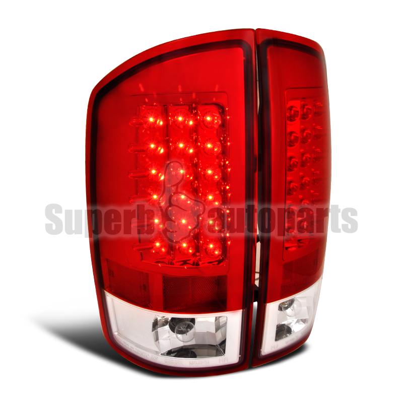2002 2006 dodge ram 1500 2500 3500 led tail lights brake lamp red. Black Bedroom Furniture Sets. Home Design Ideas
