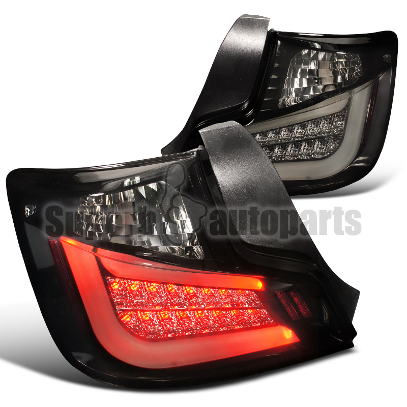2011 2013 scion tc glossy black led tail lights brake. Black Bedroom Furniture Sets. Home Design Ideas