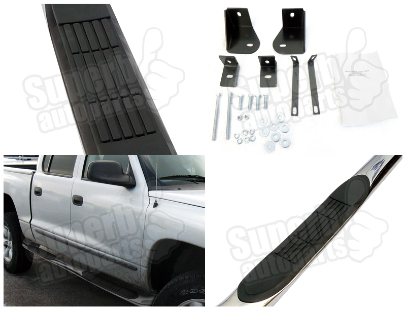 2000 2004 dodge dakota quad cab s s rail side step nerf. Black Bedroom Furniture Sets. Home Design Ideas