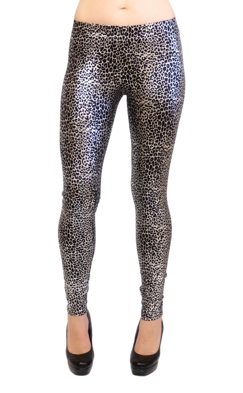 Milky Way Long Leggings - Cheetah Print, Regular and Plus Size at Sears.com