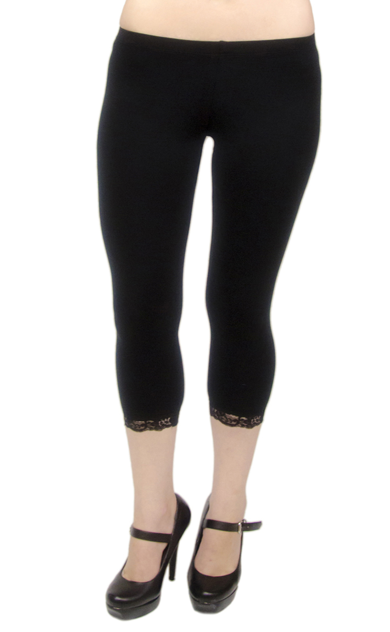 VF Manufacturing Capri Leggings - Cotton, Lace, Extra Plus Size at Sears.com