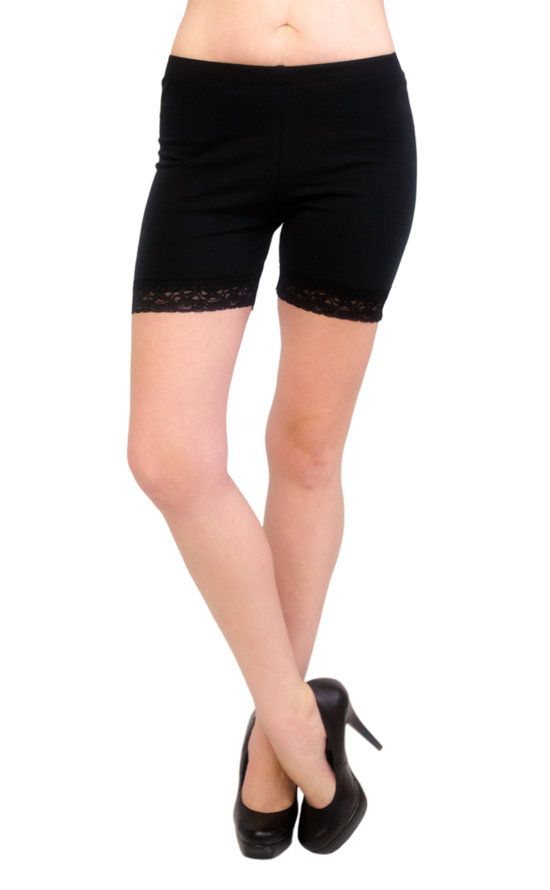 VF Manufacturing Legging Shorts - Cotton with Lace Trim, Regular and Plus Size at Sears.com