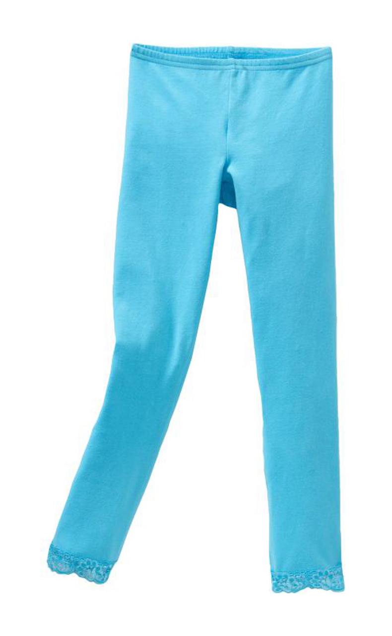 Vivian/'s Fashions Long Leggings Lace Trim Cotton Girls