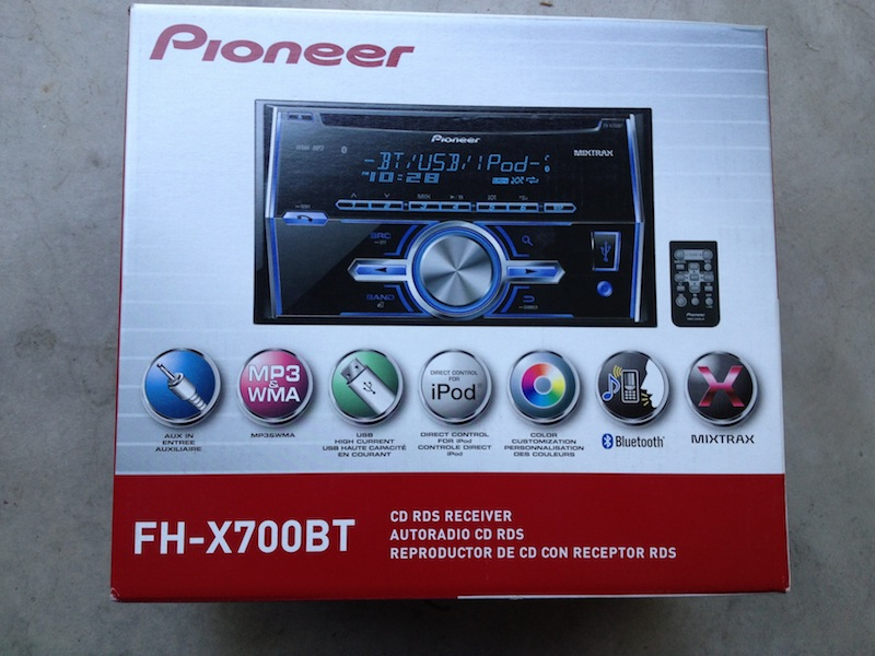 Pioneer Fh X700bt In Dash Double Din Car Stereo Receiver W