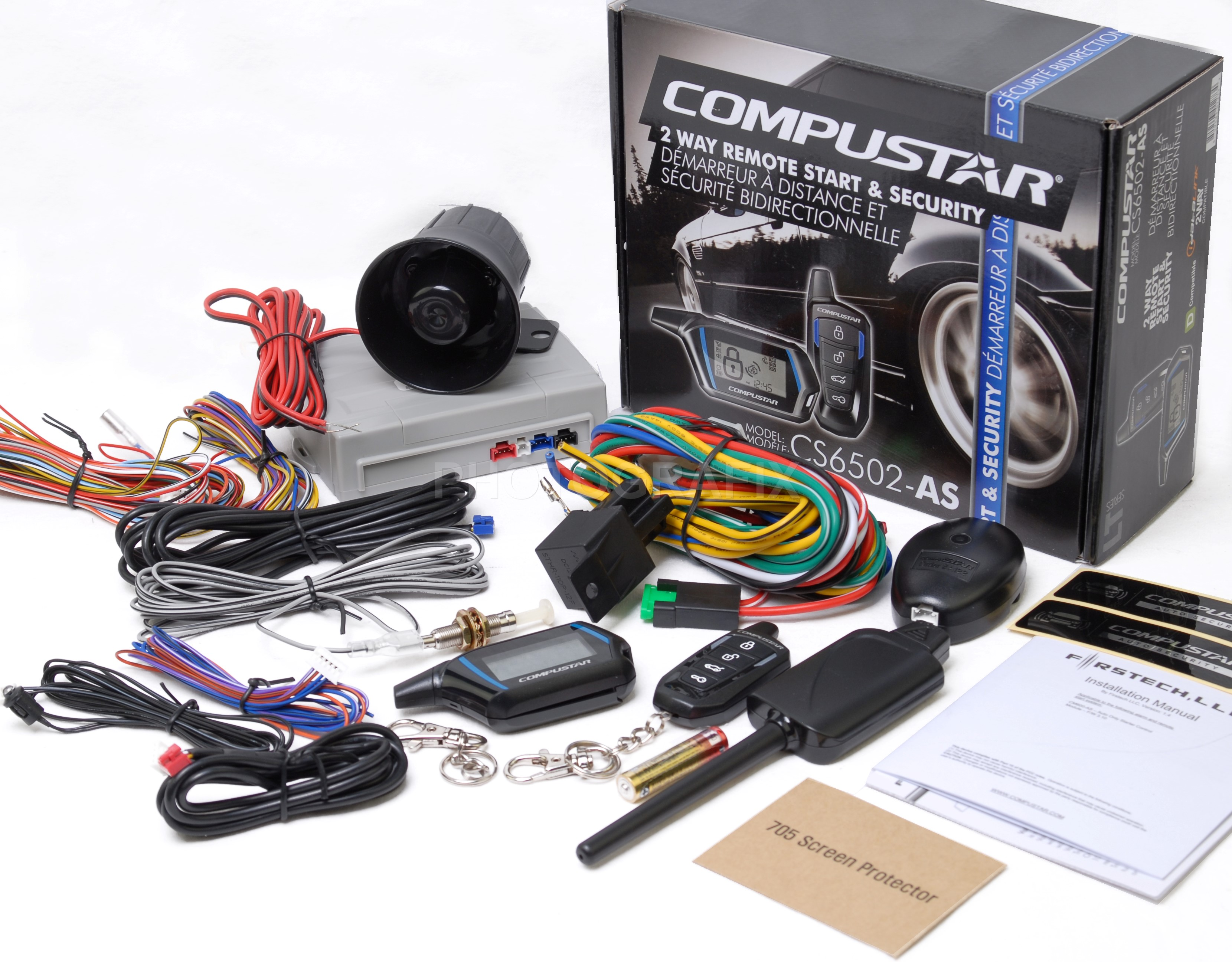 compustar cs6502 as 2 way remote car starter alarm system replaced cs6102 as