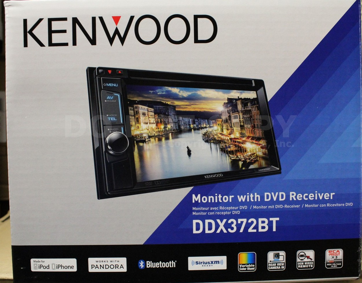 new kenwood ddx372bt double din dvd bluetooth car stereo. Black Bedroom Furniture Sets. Home Design Ideas