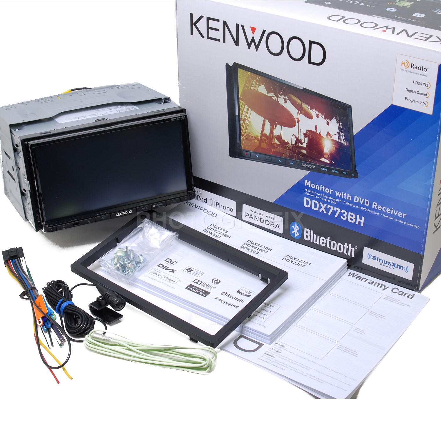kenwood ddx773bh in dash double din dvd receiver built in. Black Bedroom Furniture Sets. Home Design Ideas