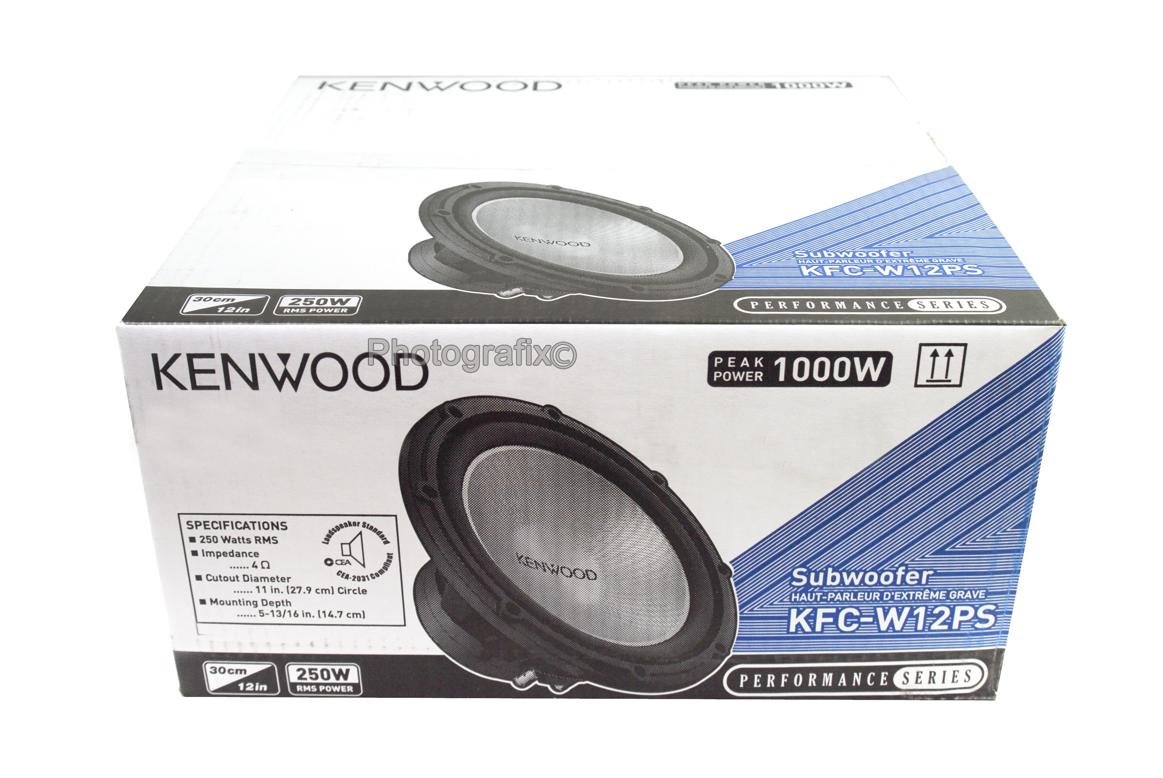kenwood kfc w12ps 1000 watt 12 single 4 ohm car audio. Black Bedroom Furniture Sets. Home Design Ideas