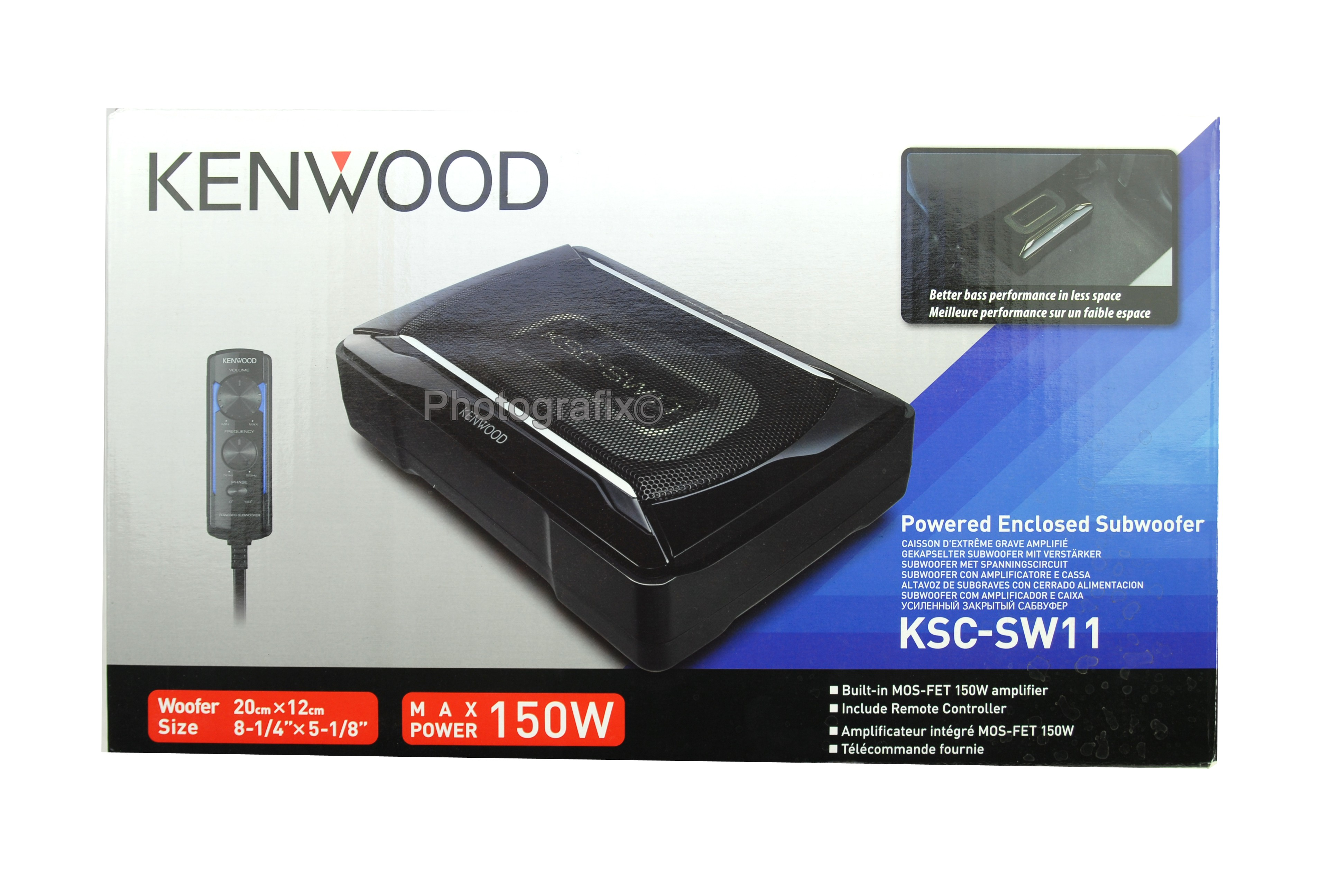 kenwood ksc sw11 150w compact powered subwoofer w bass. Black Bedroom Furniture Sets. Home Design Ideas