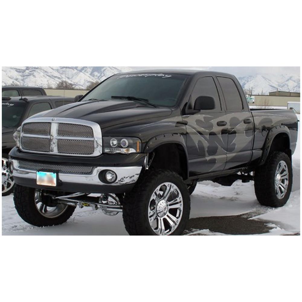 Dodge Truck Fenders : Bushwacker pocket fender flare oe matte black dodge ram