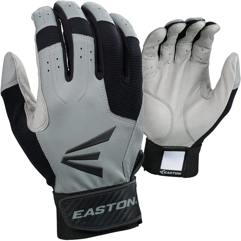 1 pair easton force grey black adult small baseball
