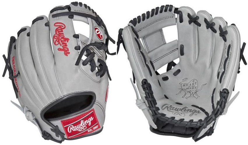 "Rawlings Grey /Black /Red 11.25"" Heart Of The Hide Series ...