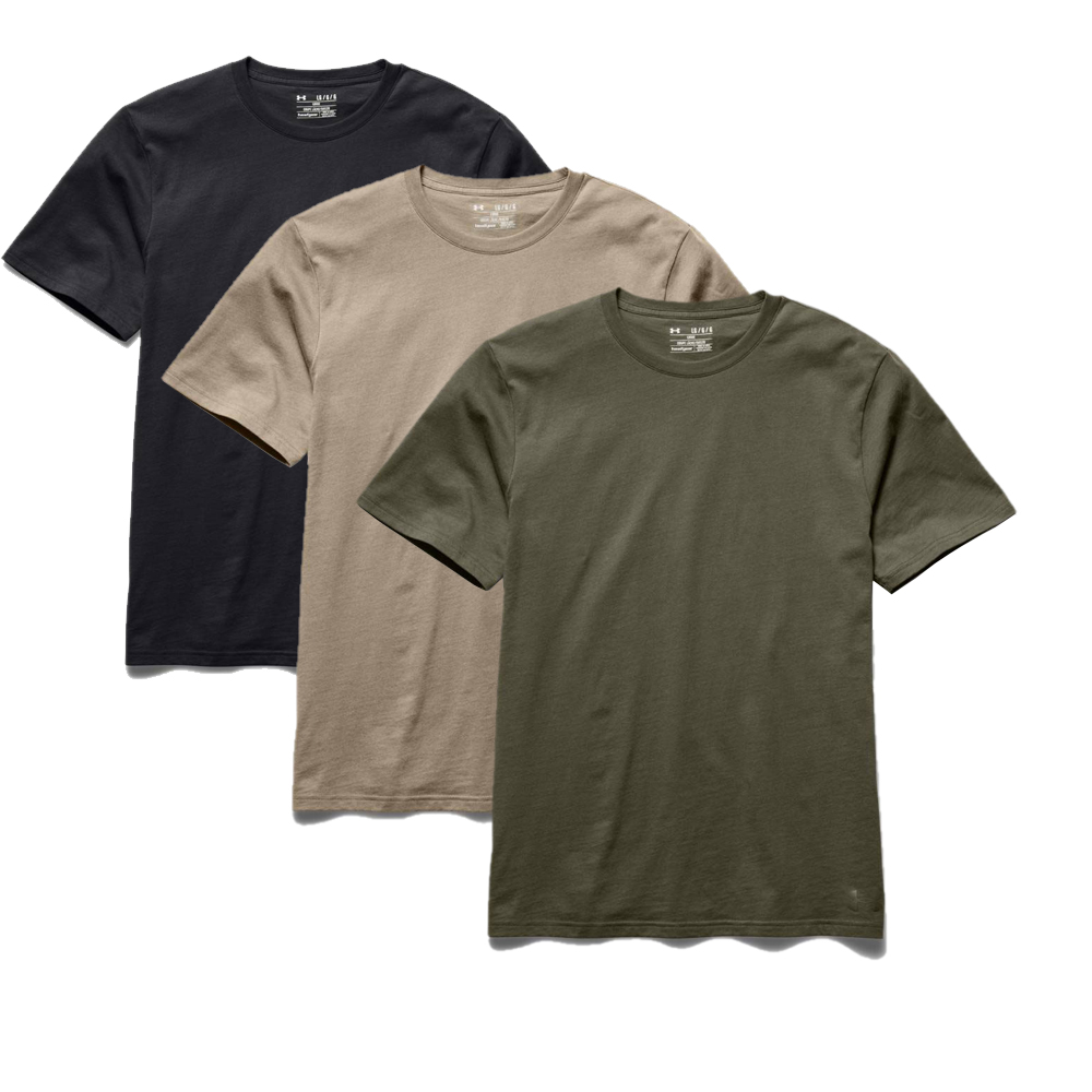 Under armour men 39 s tactical charged cotton t shirt ebay for Original under armour shirt