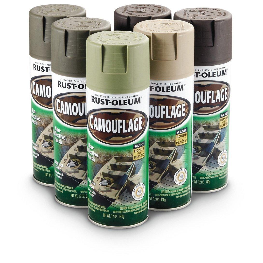 rust oleum 269038 camouflage spray paint 6 pack kit ebay. Black Bedroom Furniture Sets. Home Design Ideas