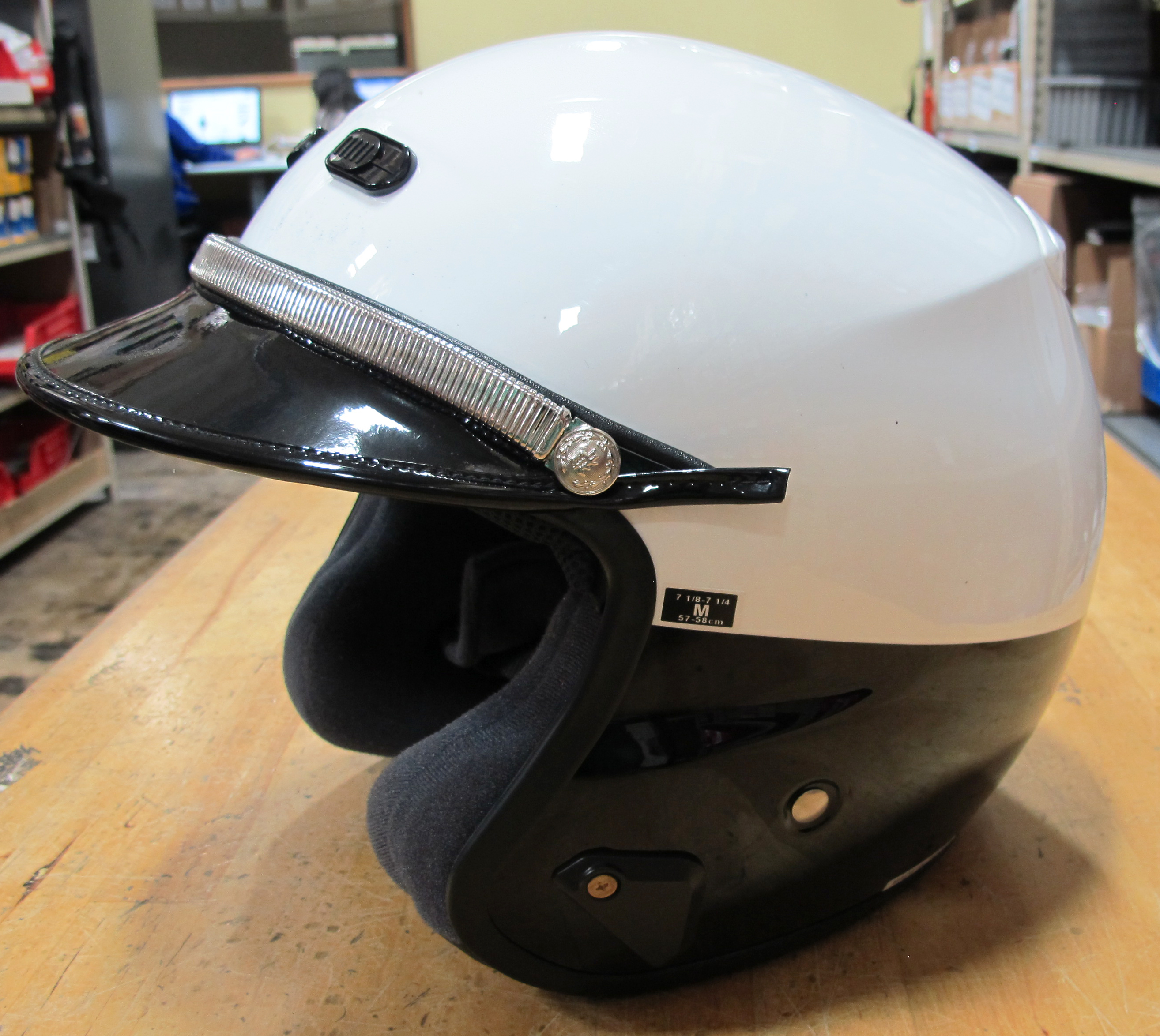 Shoei RJ Platinum LE Open Face Police Helmet BlackWhite  : img0862 Police Motorcycle Helmet <strong>Decals</strong> from www.ebay.com size 2628 x 2348 jpeg 2581kB