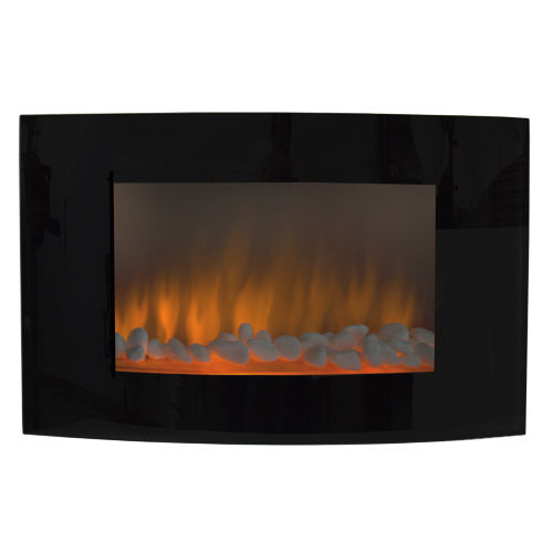 Clevr? Clevr 1500W Heat Adjustable Electric Wall Mount Fireplace Heater w/ Glass Large at Sears.com