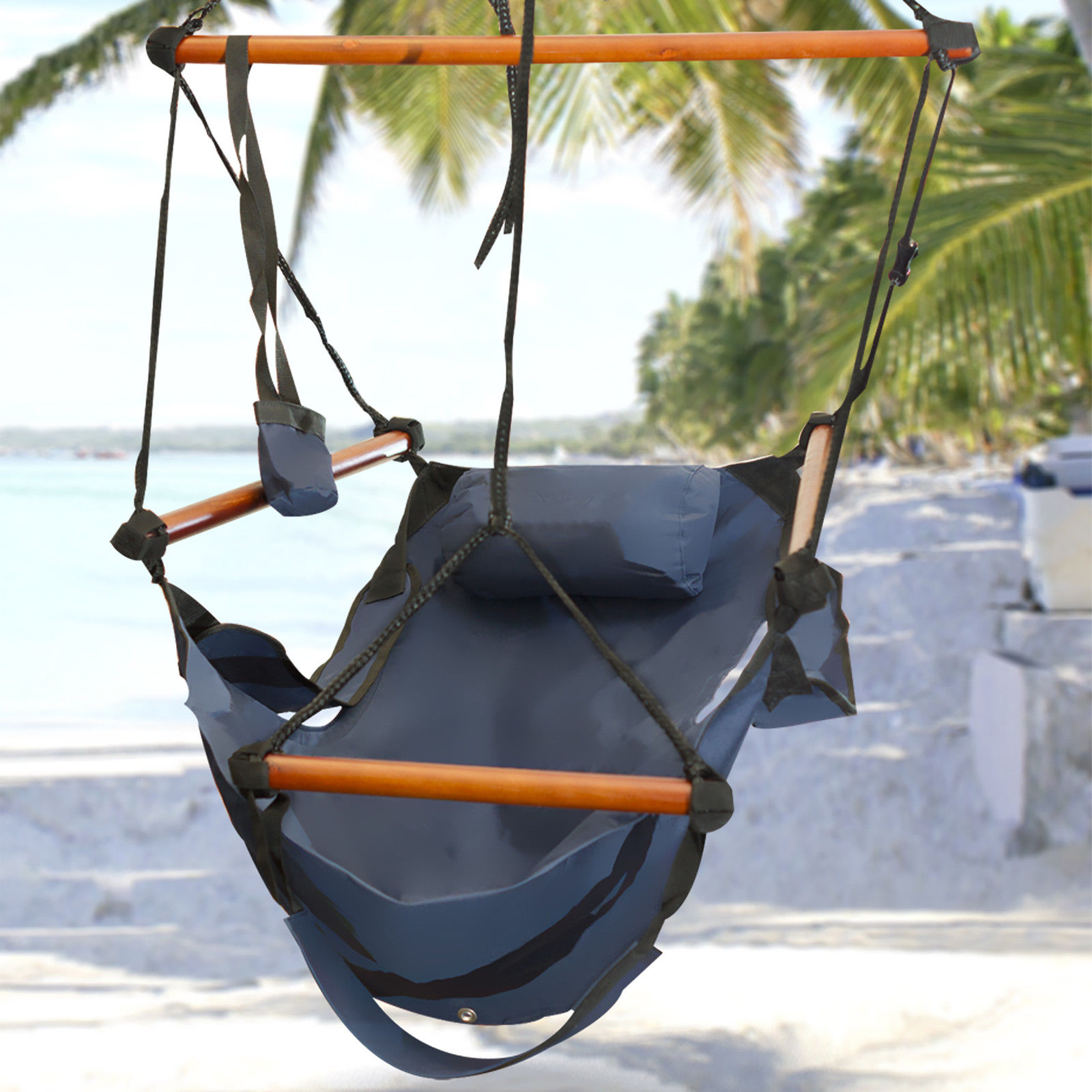 new deluxe hammock hanging patio tree sky swing chair