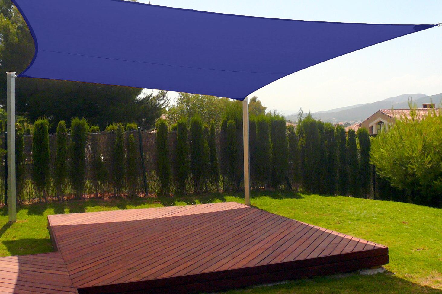 New premium clevr sun shade canopy sail 12 39 x12 39 square uv for Sun patio