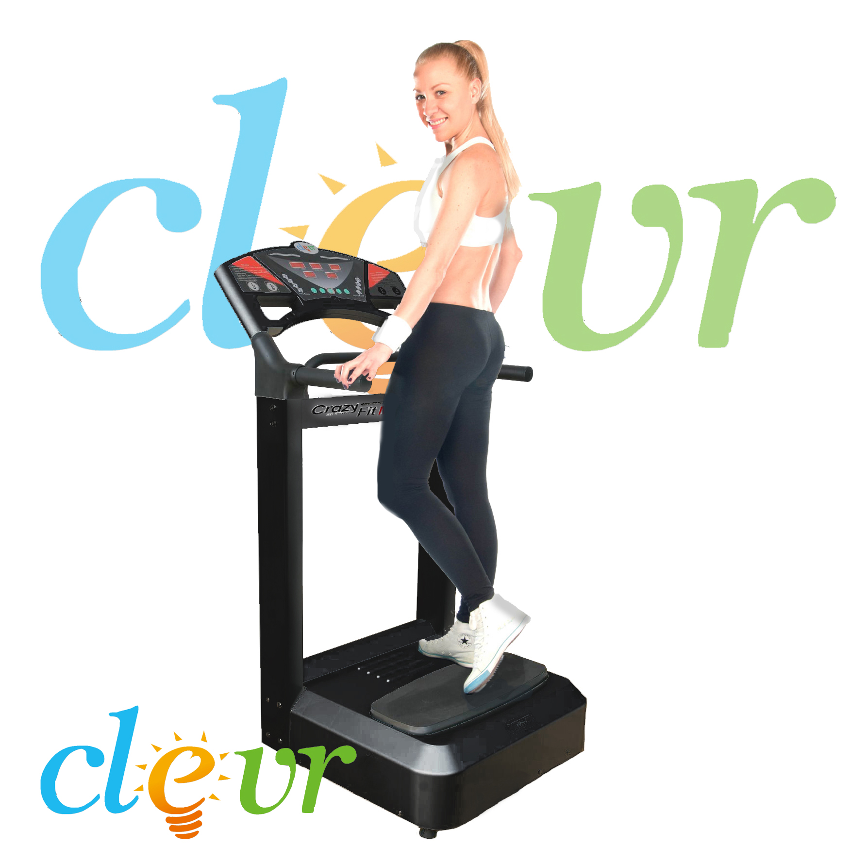 Clevr? Black Pro 1000w Full Body Vibration Massage Machine Platform Crazy Fitness at Sears.com