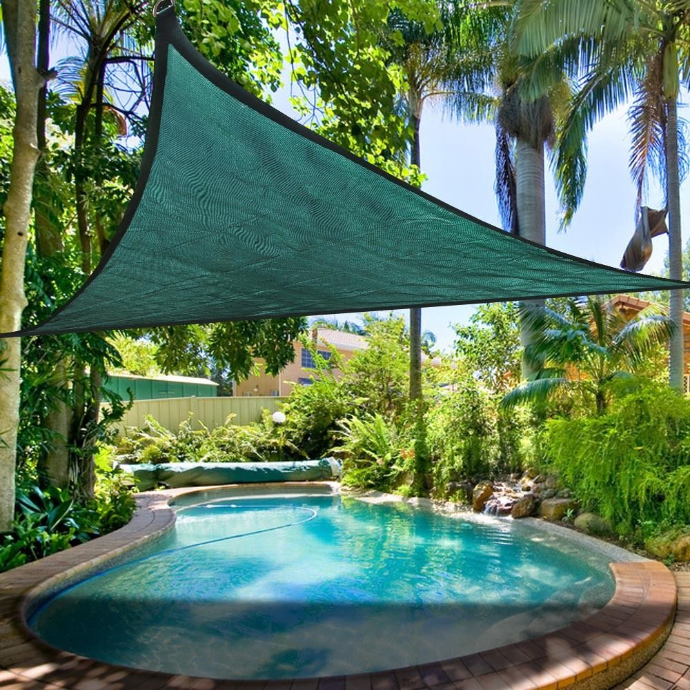 Clevr outdoor patio uv sun shade sail canopy cover for Colorado shade sail