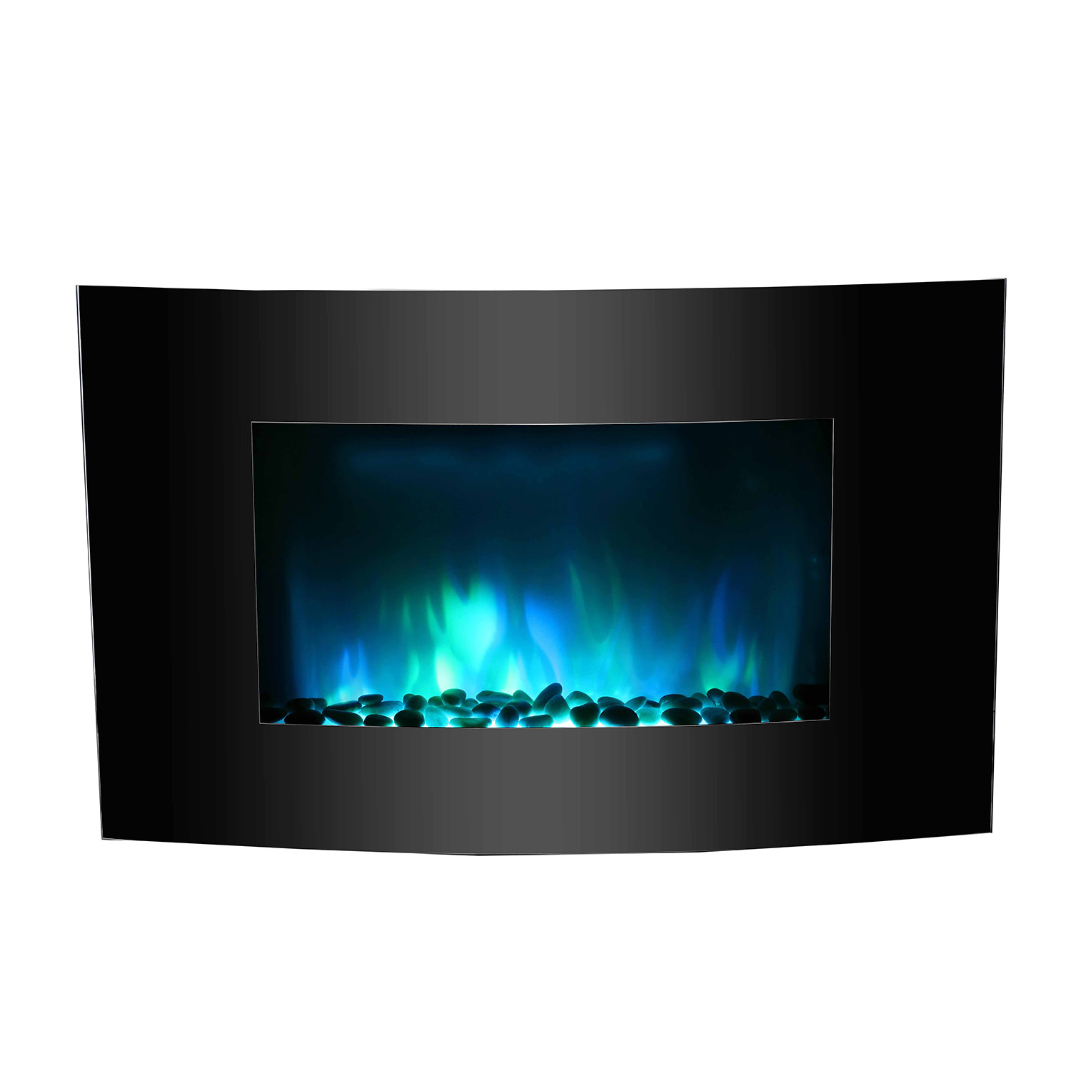 36 Adjustable Color 1500w Electric Wall Mount Fireplace Heater Curve Colors Ebay