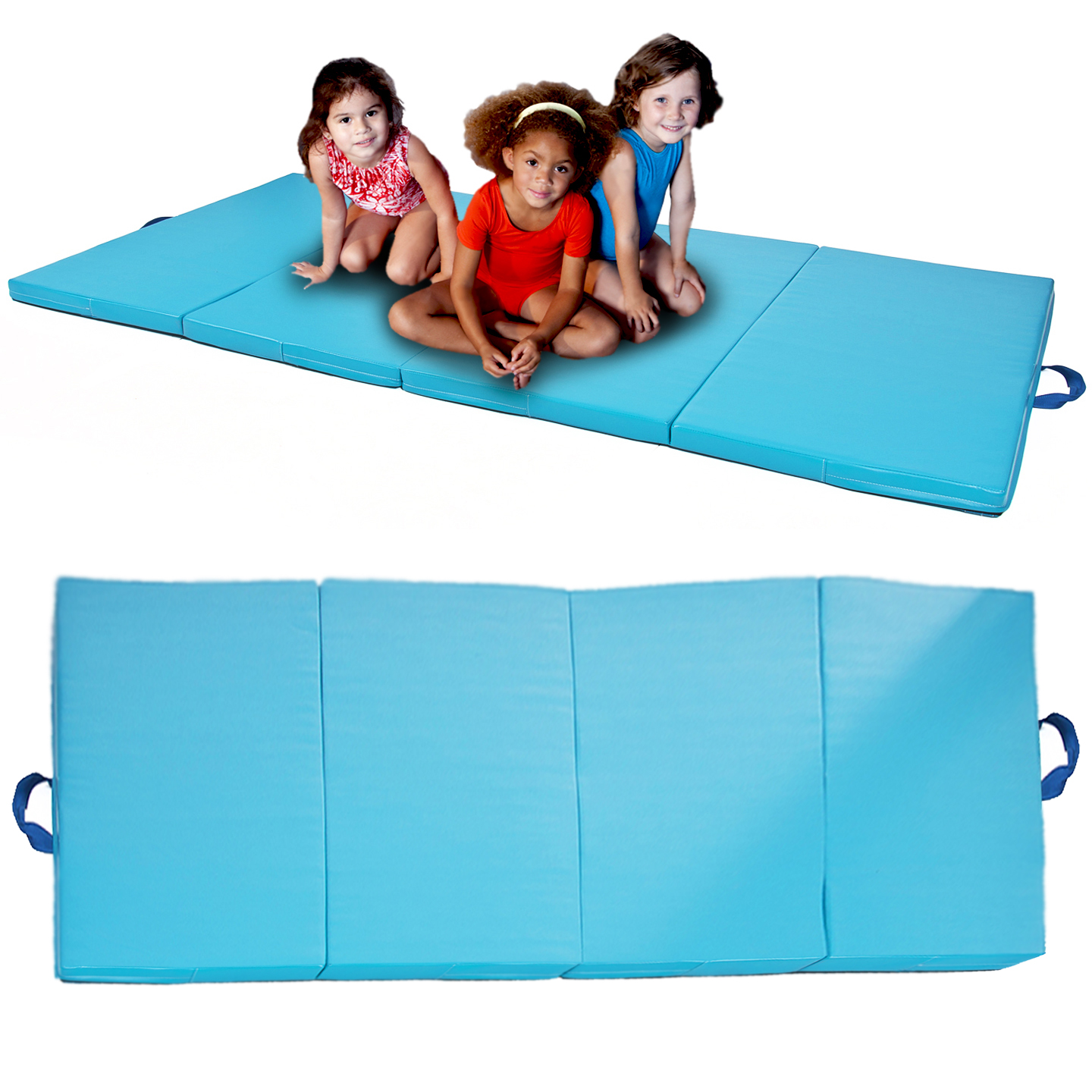 Blue-4x8x2-Gymnastics-Gym-Folding-Exercise-Aerobics