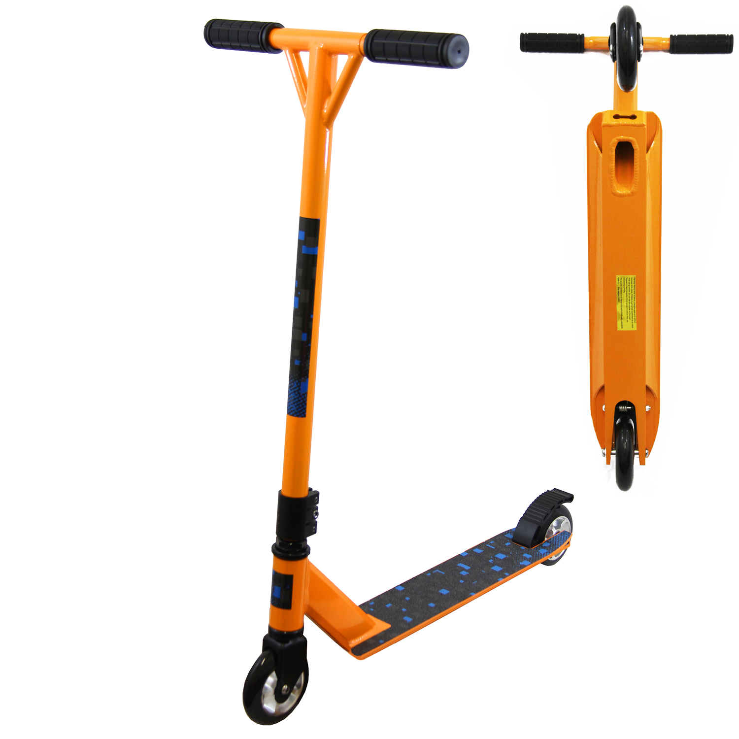 Xspec Orange Pro Aluminum Stunt Kick Scooter Tricks