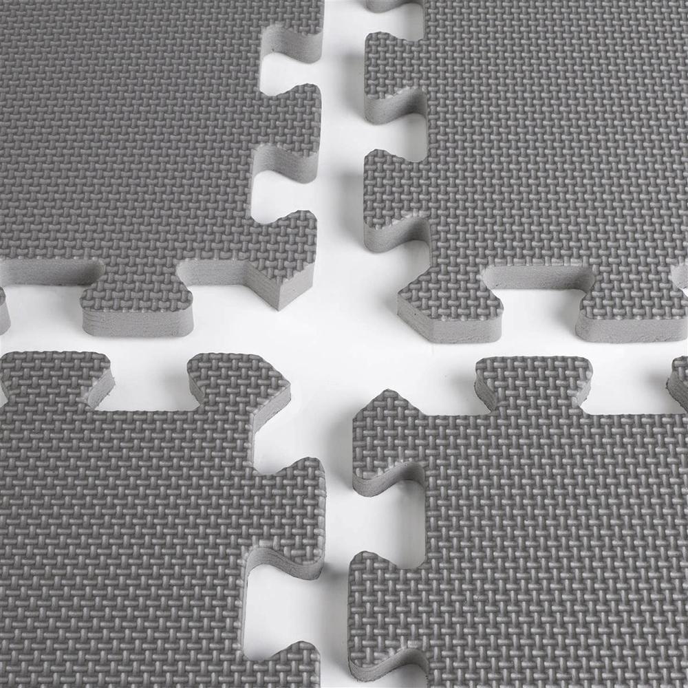 Clevr 96 Sq Ft EVA Foam Floor Mat Interlocking Exercise