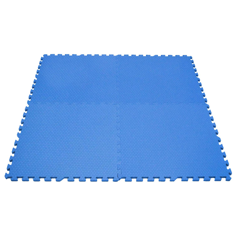Clevr 96 sq ft eva foam floor mat interlocking exercise for Foam flooring