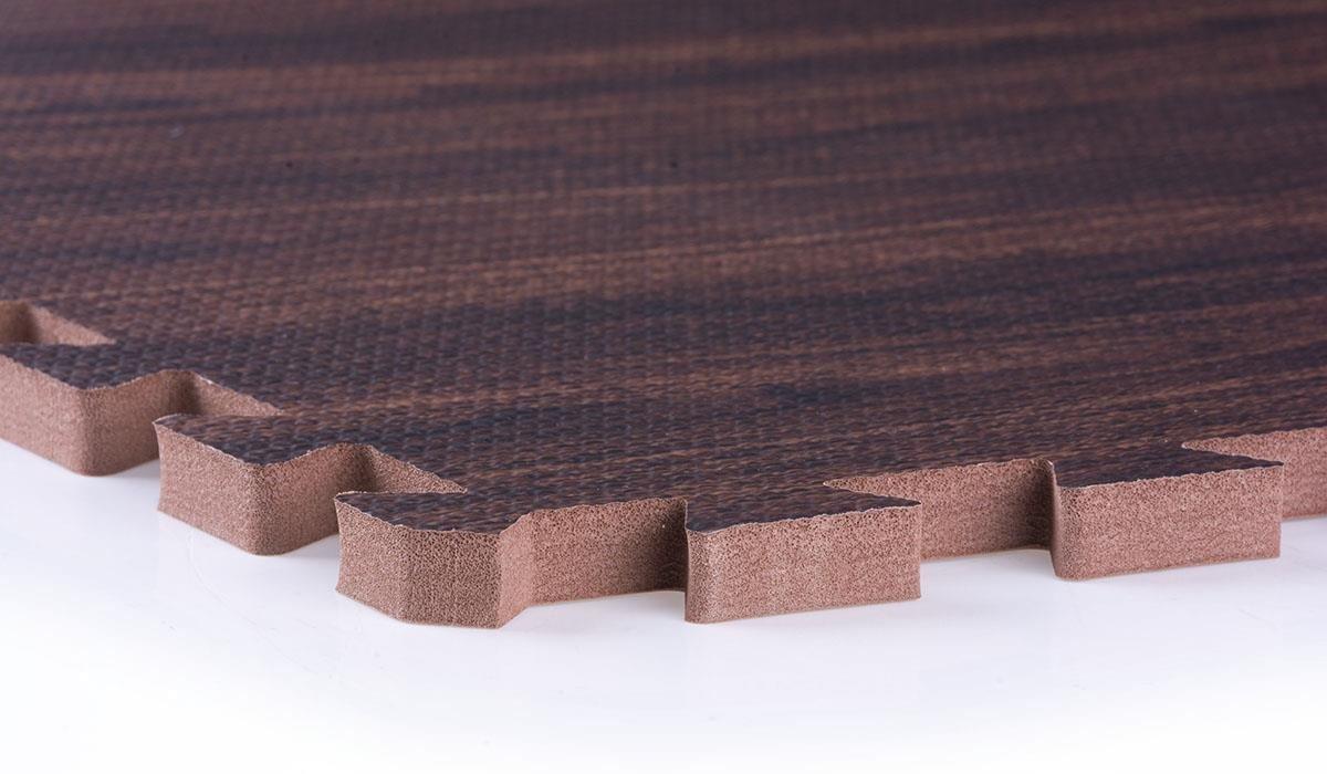 Padded Floor Mats For Kitchen Clevr 96 Sqft Eva Dark Wood Grain Foam Floor Mat Interlocking