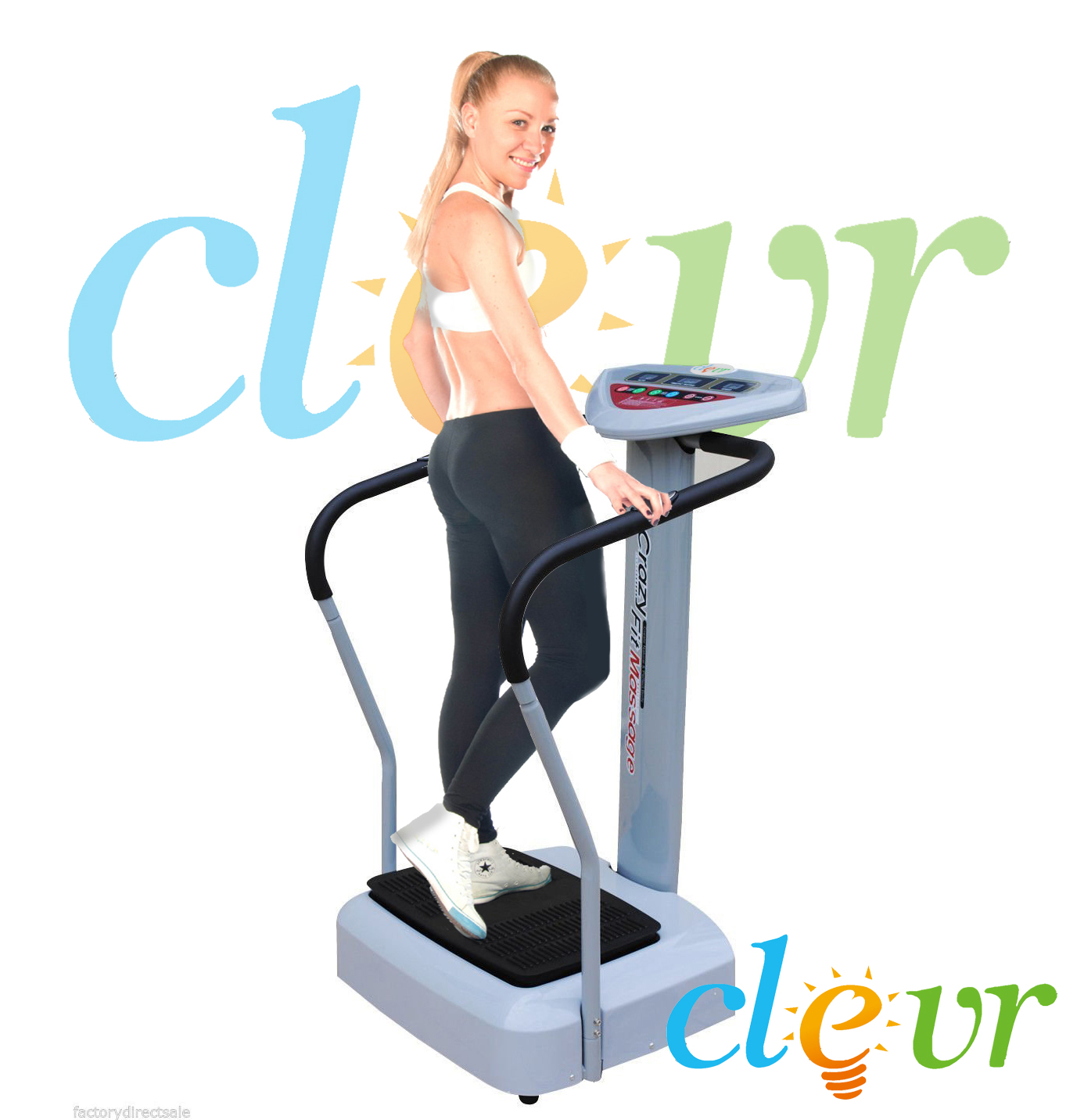 Clevr? 1000w Pro Crazy Fit Full Body Vibration Massage Machine Platform Massage Fitness at Sears.com