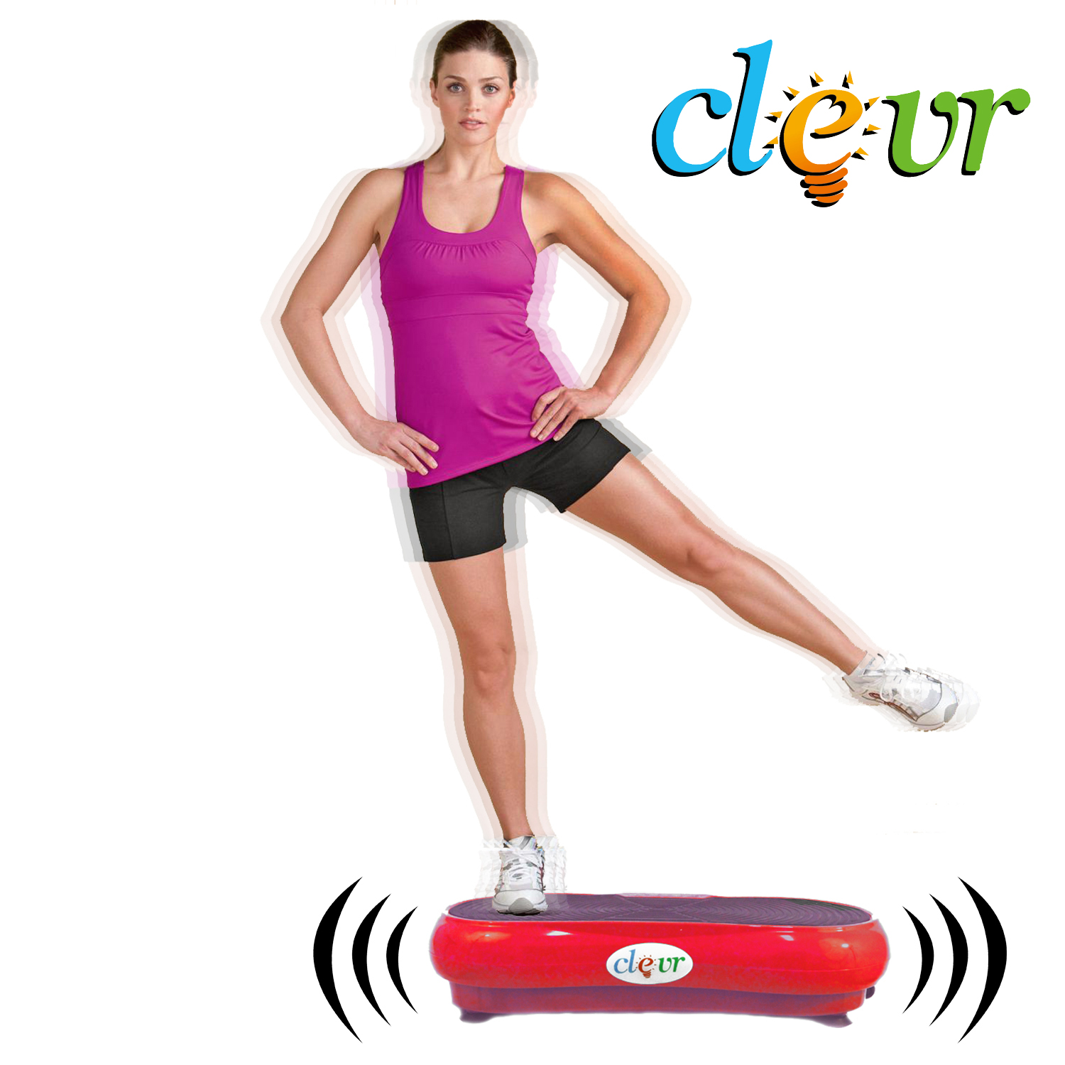 Clevr? Red Mini Crazy Fit Full Body Vibration Thin Platform Massage Machine Fitness at Sears.com