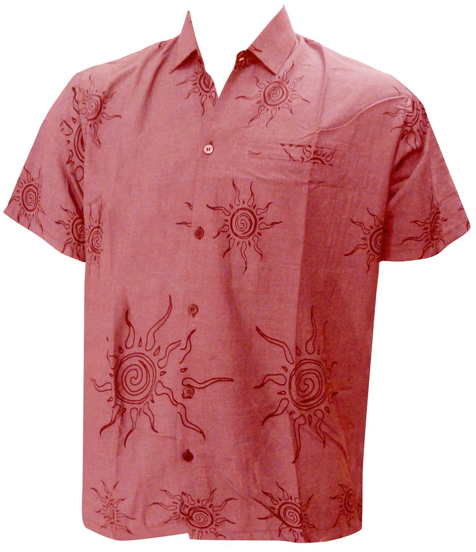 LaLeela.com Allover Sun Printed P Viscose Red Beach Hawaiian Shrit For Men's S at Sears.com