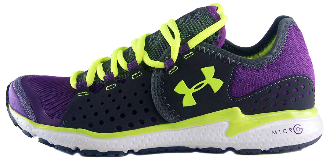 Under Armour Womens Running Shoes Grey And Neon
