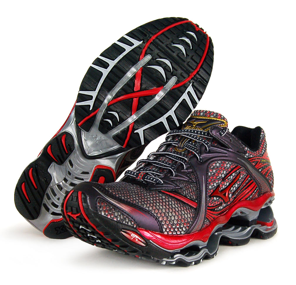 MIZUNO WAVE PROPHECY sz 9 MENS RUNNING SHOES BLACK/RED ...