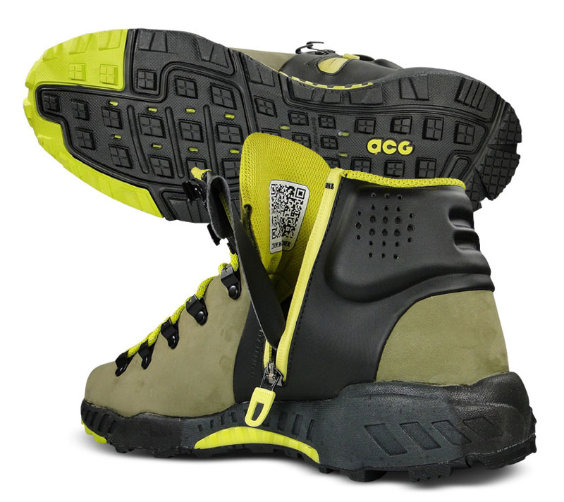 """Nike Zoom Meriwether Sz 10 Mens Hiking Boots Green/Black/Yellow"""