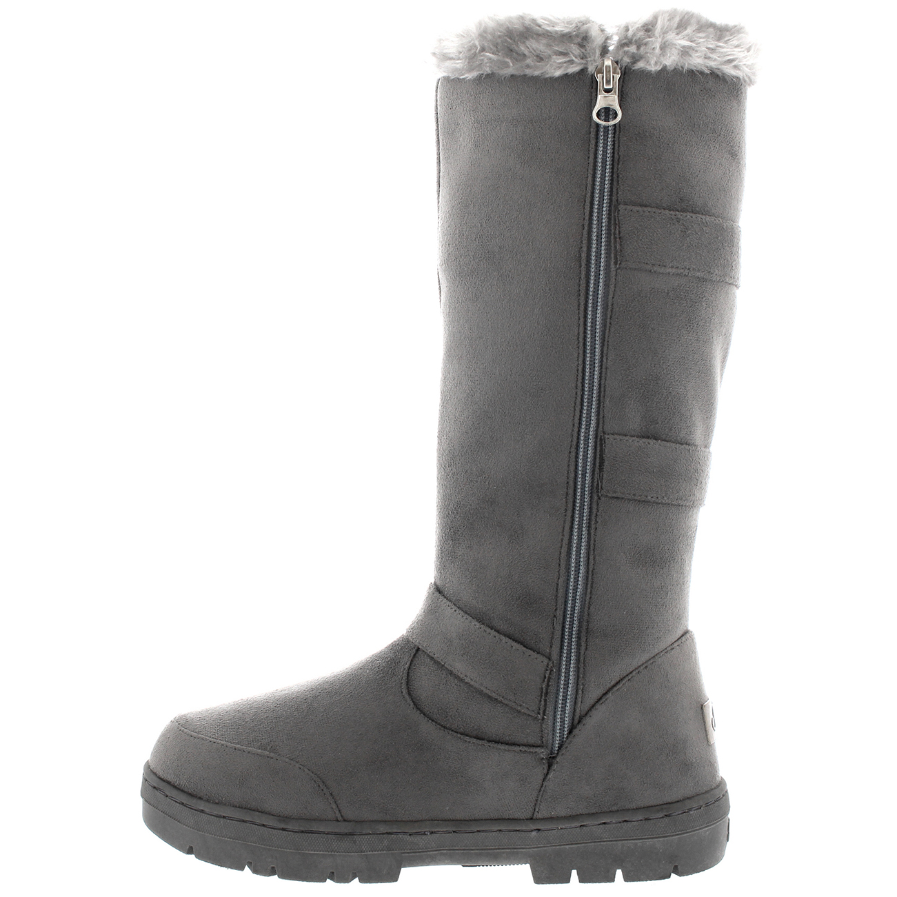 grey knee high boots uk