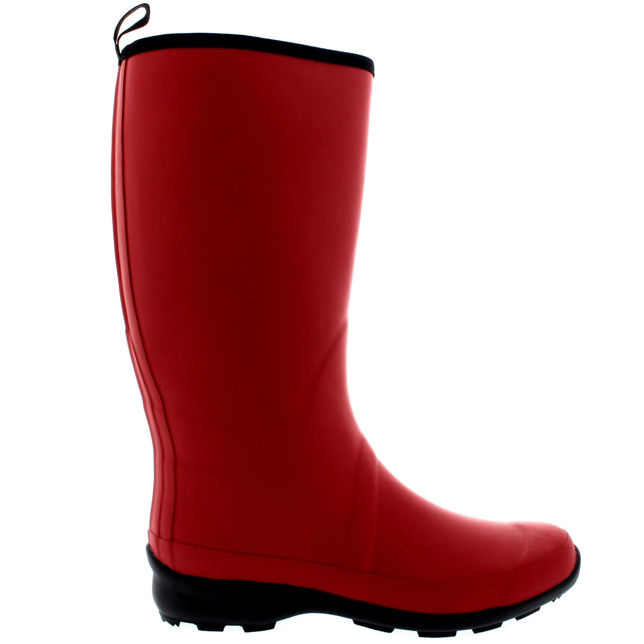 womens contrast sole rubber wellington winter snow