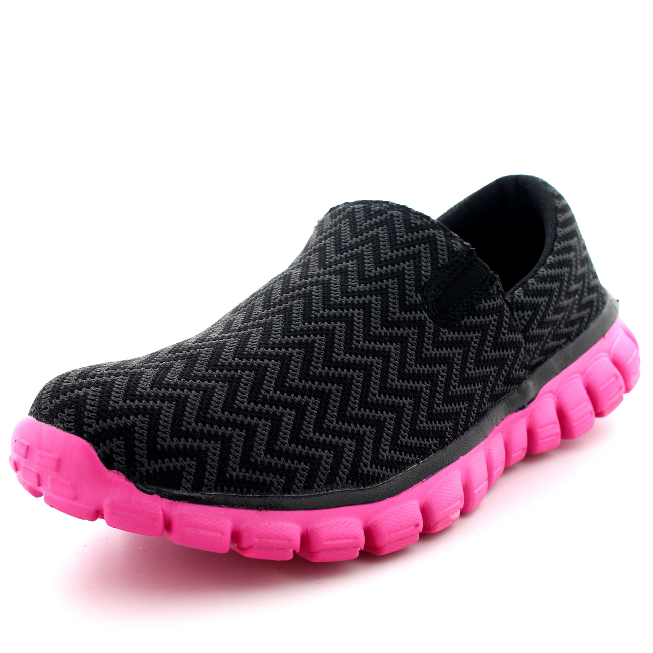 womens walking slip on sports running shoes