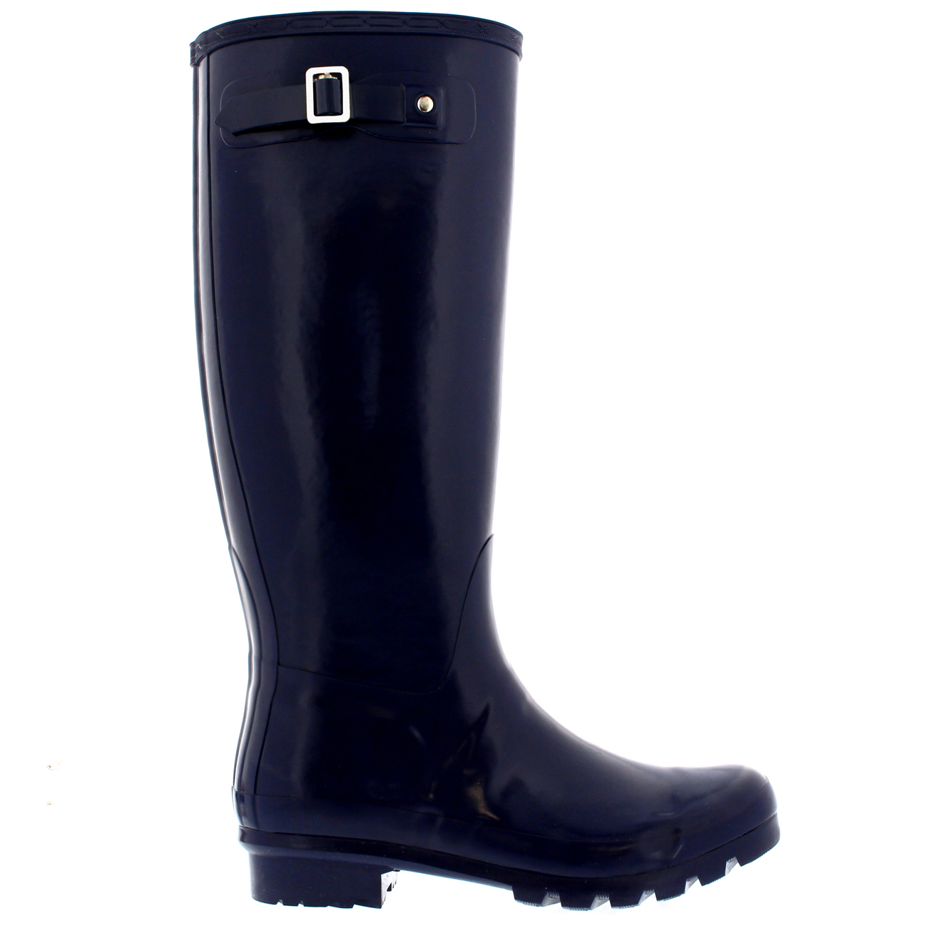 womens 100 rubber gloss waterproof knee high